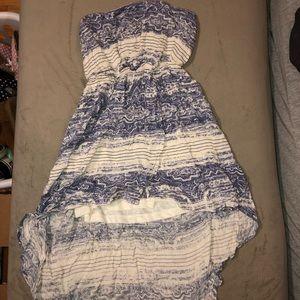 O'neill high low strapless flowy dress